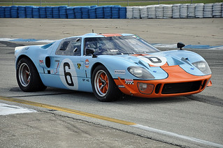 1969 GT40 in Gulf livery at the HSR Sebring Historic Races. | by Nigel Smuckatelli