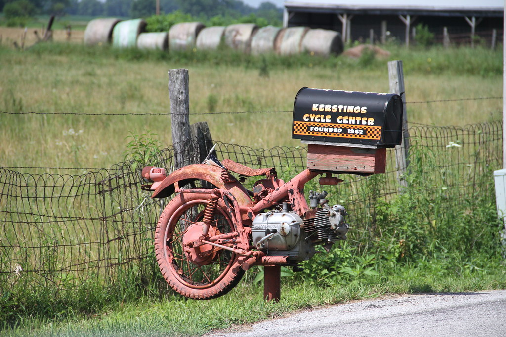 motorcycle mailbox, harley-davidson, stark county in | flickr