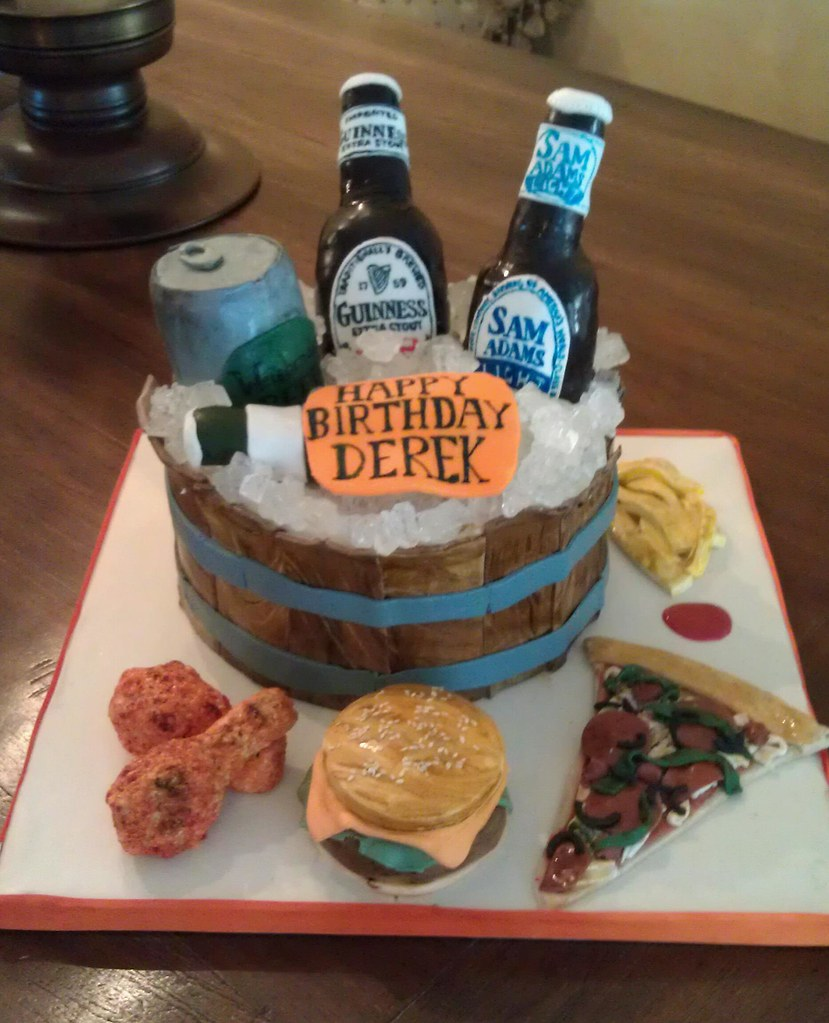 Birthday Meme Cheeseburger Cake