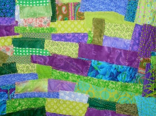 boro style small quilt | by Pam Householder
