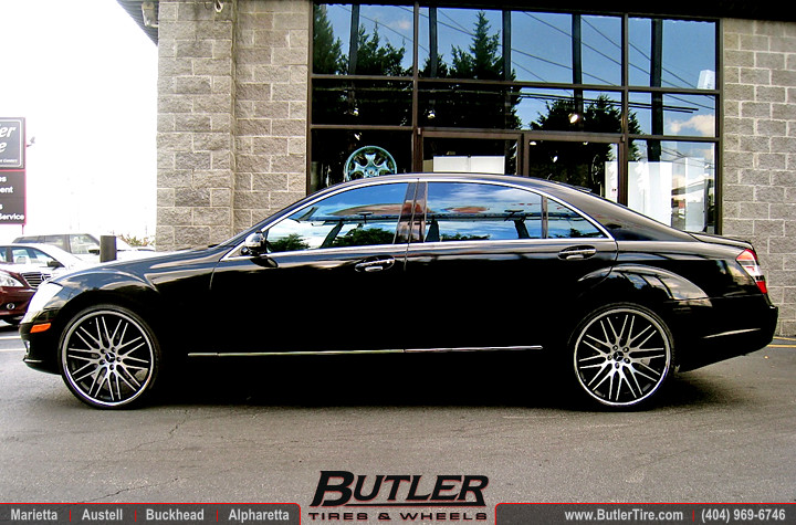 Mercedes S550 With 22in Lexani Cvx44 Wheels Additional