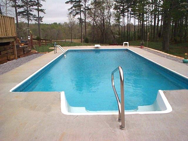 Inground swimming pool rectangle 6in radius concrete deck - Swimming pool electrical deck box ...