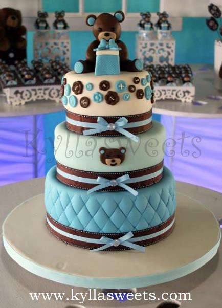Baby Shower Teddy Bear Cake Bolo Ursinho Cha De Bebe Flickr
