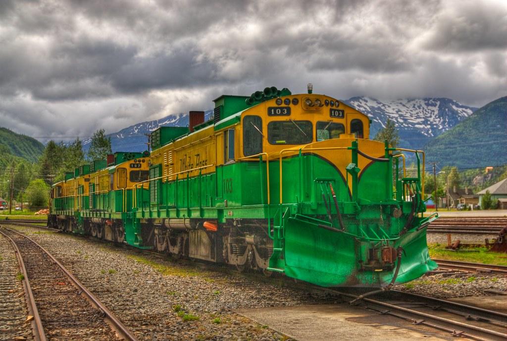 White Pass Amp Yukon Route Railroad Railyard In Skagway