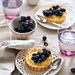 tarts with lemon curd and grapes