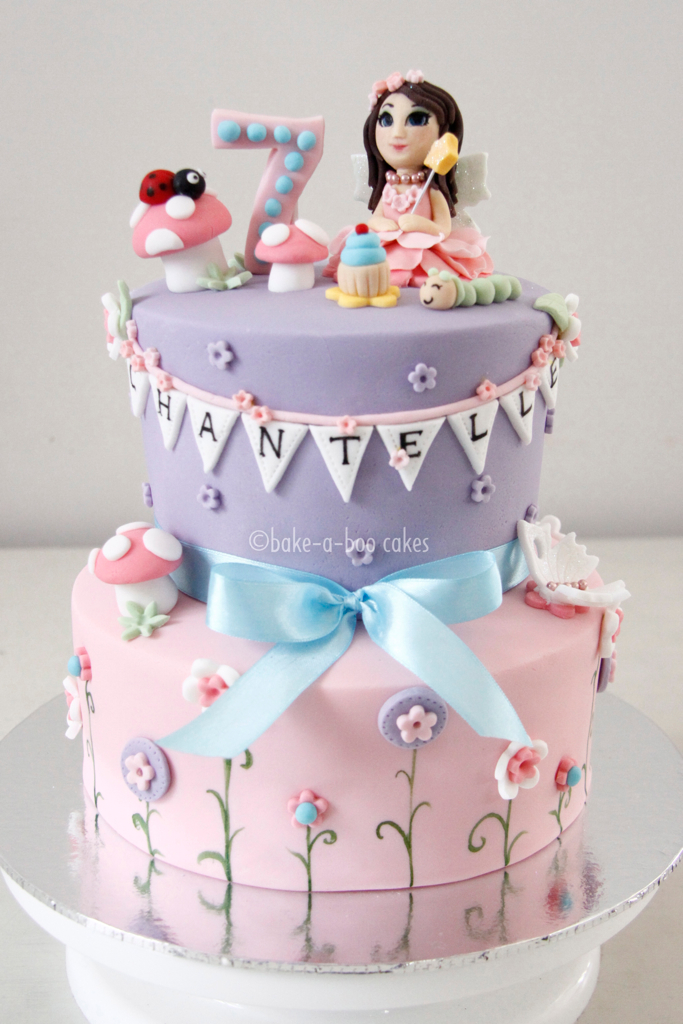 Pink Fairy Cake Made This Cake For A Gorgeous Girl Who