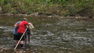 Boys check their net for macroinvertebrates | by USFWS/Southeast