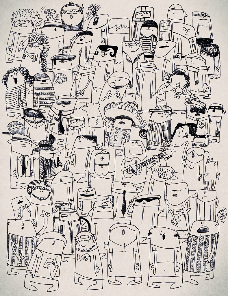 full page of doodles bruno pieroni flickr