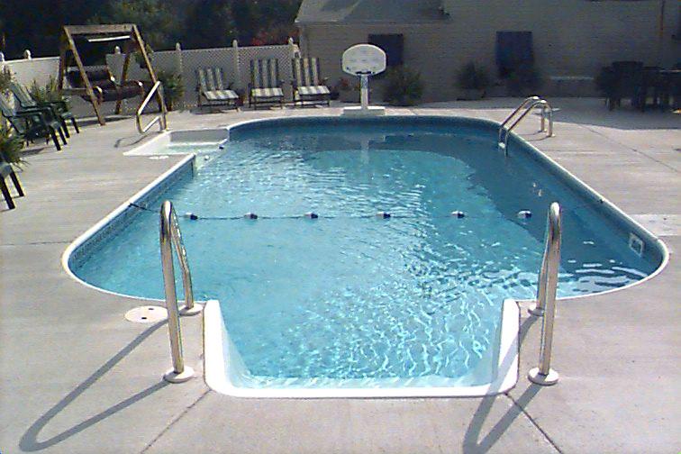 Inground Swimming Pool Rectangle 4ft Radius Concrete Deck Flickr