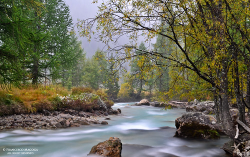 Courmayeur smoky river | by Francesco Magoga Photography