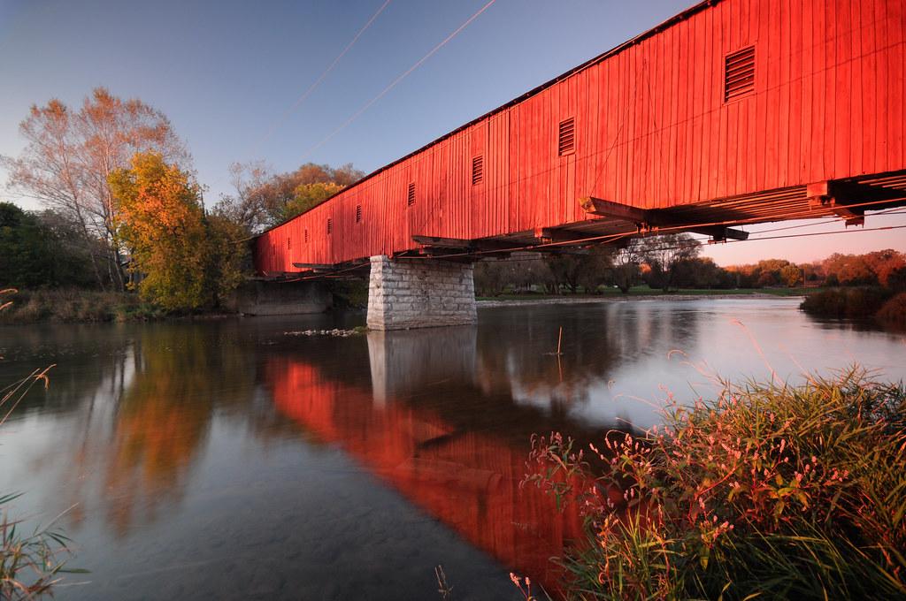 West Montrose Covered Bridge Low Vantage Pt The