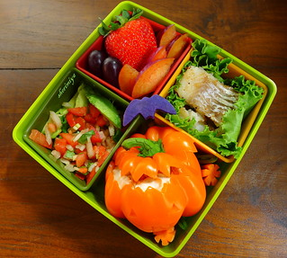 Orange Pepper Jack O'Lantern Bento | by sherimiya ♥