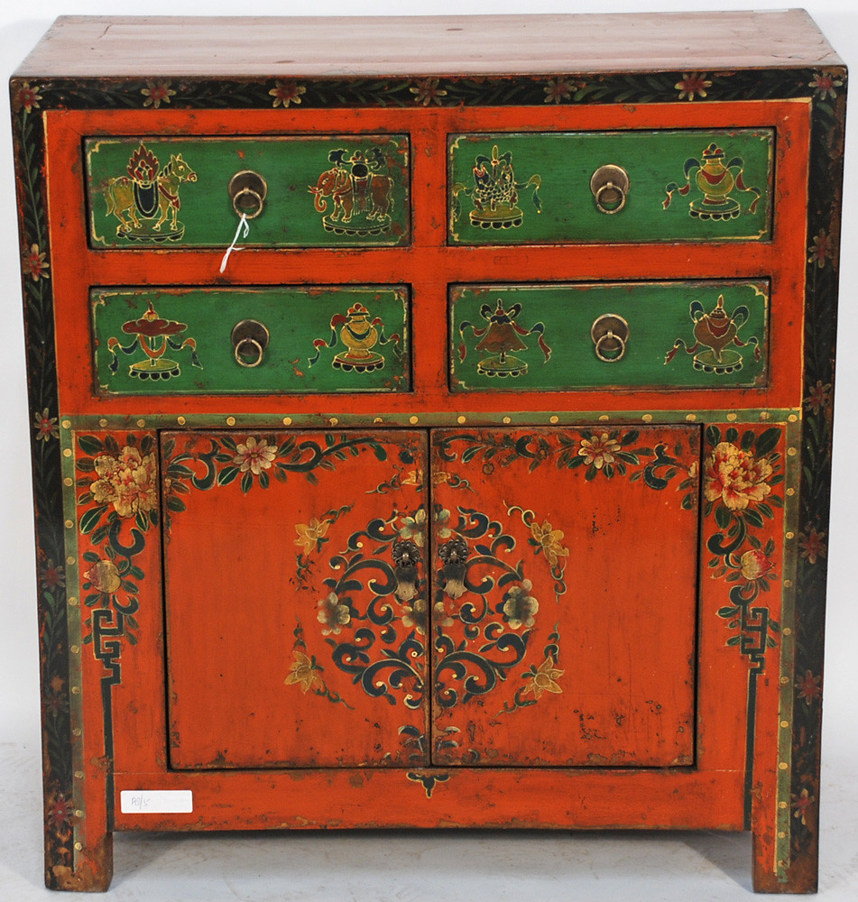 Bk0043y antique tibetan cabinet antique chinese hand for Antique asian cabinet