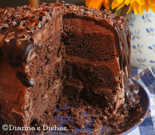 Triple Chocolate Ganache Cake: The Inside | by Dianne's Dishes