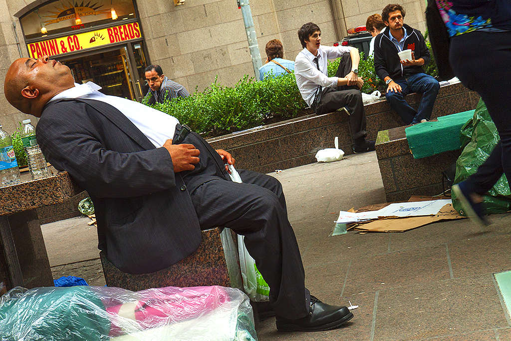 Suited-man-dozing-in-Zuccotti-Park--Manhattan