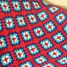 Red and Blues Granny Afghan