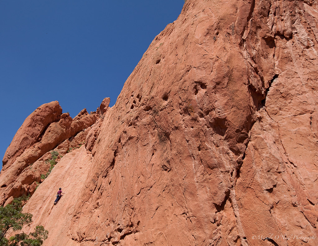 Climber rock climbing in th garden of the gods colorado s flickr for Garden of the gods rock climbing