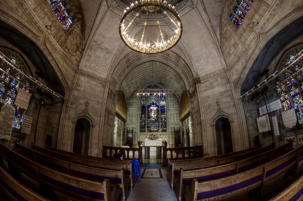 Interior of Green-Wood Cemetery Chapel | Green-Wood ...