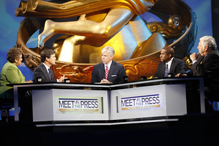David Gregory moderates a discussion on the role of government in education. | by Education Nation