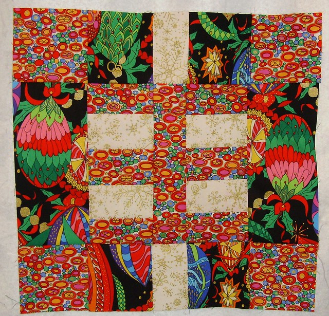 Layer Cake Quilt Along : block 11 layer cake quilt along - christmas quilt Flickr ...