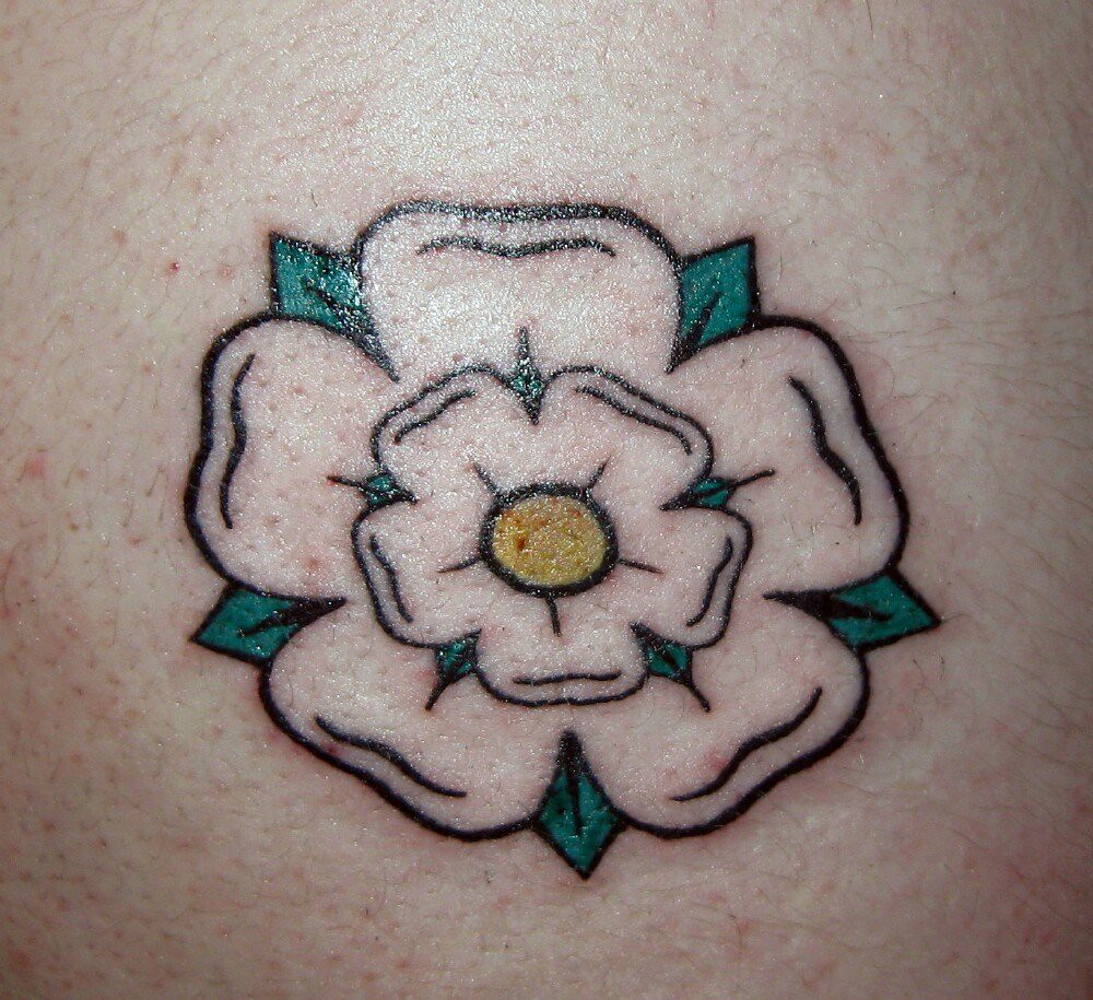 yorkshire rose tattoo tattoo of a yorkshire rose on matt 39 s flickr. Black Bedroom Furniture Sets. Home Design Ideas