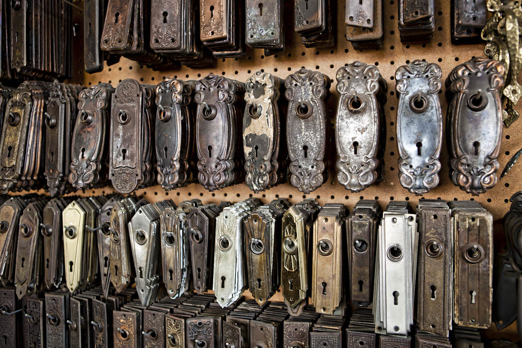 Antique Door Hardware As Seen At Architectural Salvage
