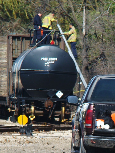 The training subject,leaking fumes from a railroad tank car . | by Chicago Rail Head