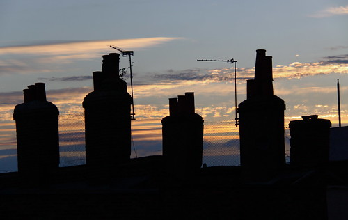 Chimneys at Sunset - Camden, London | by ChrisGoldNY