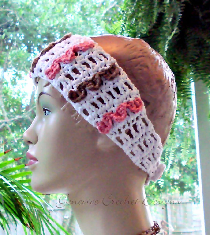 Wide Lacy Headband Crochet Pattern Crochet Pattern By Gene Flickr