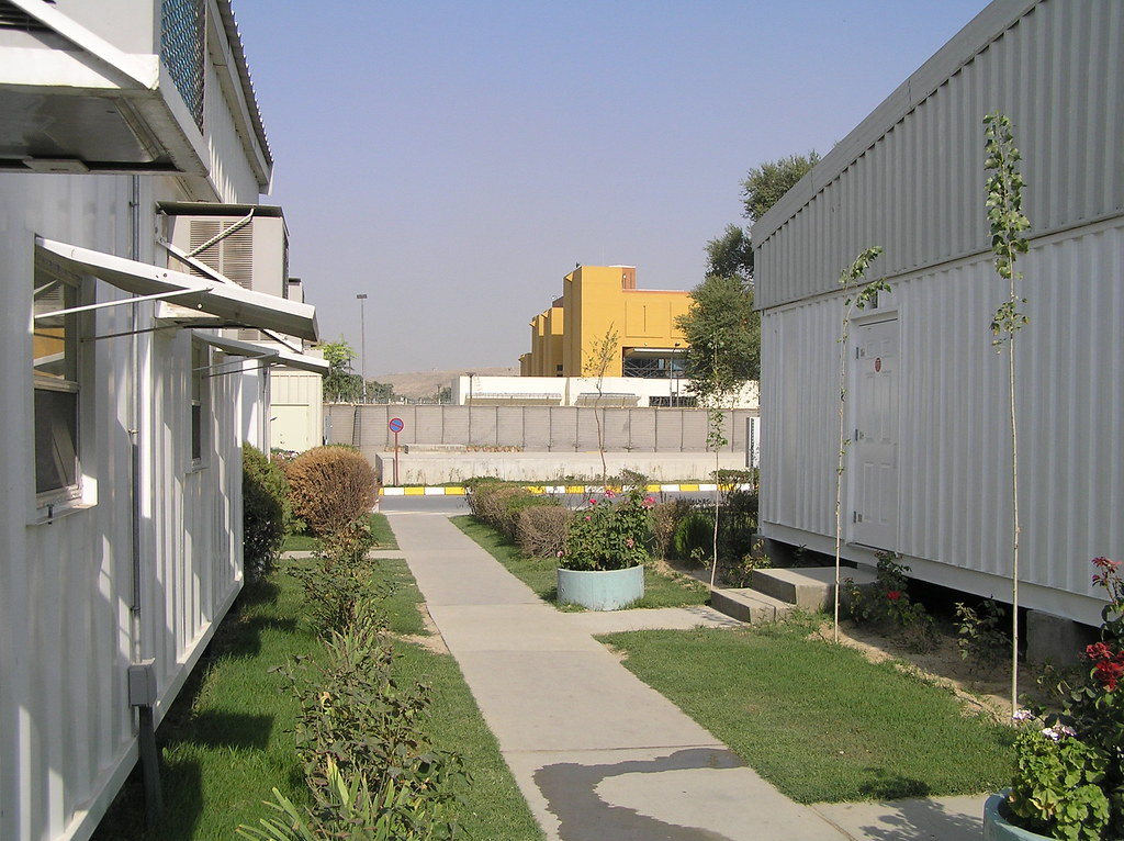 US Embassy Kabul Yellow building seen from compound acro Flickr
