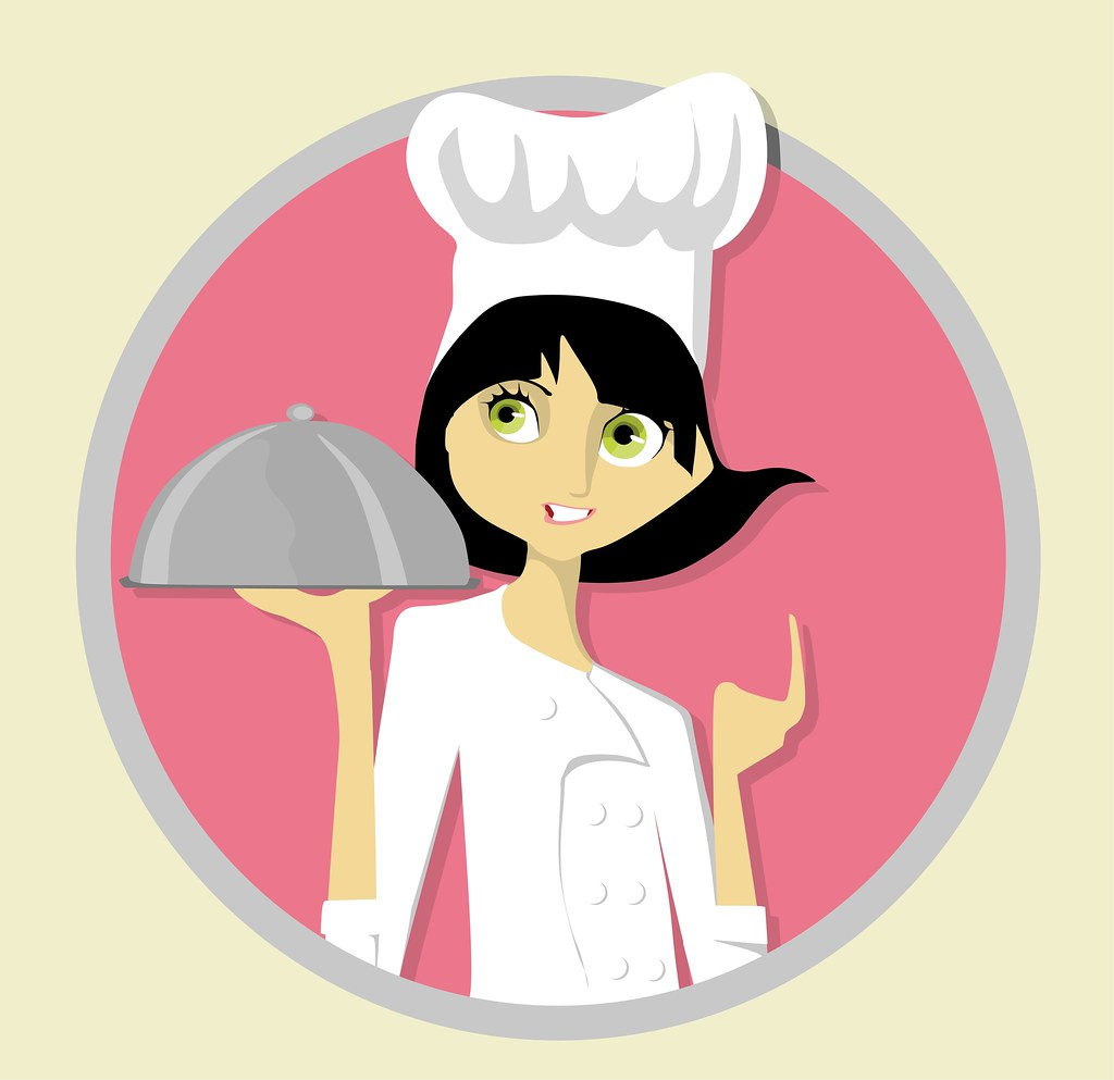 Le chef cuisinier i am trying to do more retro clip art for Job cuisinier