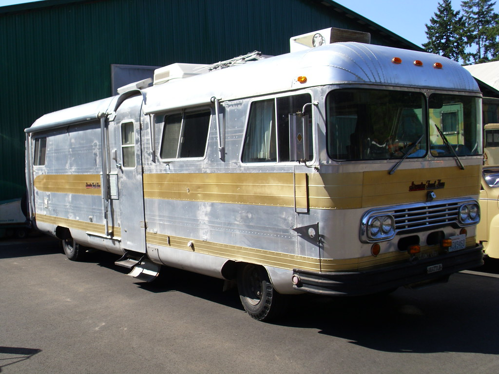 Gmc Motorhome For Sale >> Streamline Travel Home | On display in the car show area at … | Flickr