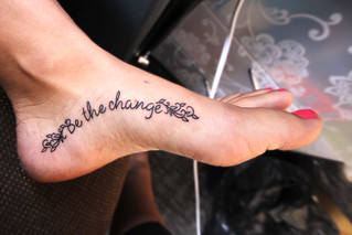 Be the Change Tattoo | by becca.peterson26