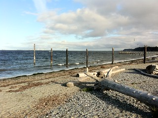 High tide on the beach in Point Roberts | by scazon