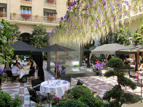 ... Four Seasons Hotel Patio   Paris, France | By Waynedunlap