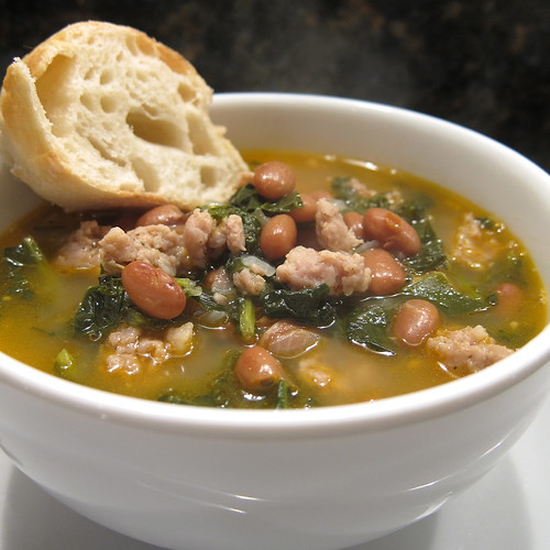 Sausage, Bean and Kale Soup | by katbaro