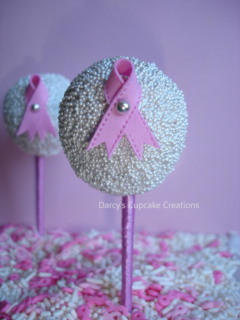Breast Cancer Awareness Cake Pop Chocolate And Vanilla