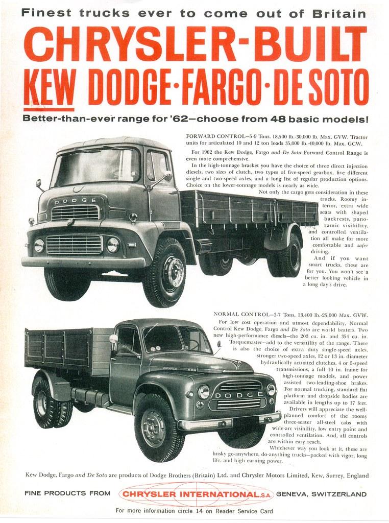 New Dodge Trucks >> 1962 Dodge/Fargo/DeSoto Kew Trucks (Int'l)   Michael   Flickr