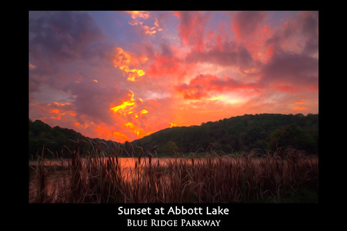 Sunset at Abbott Lake Poster | by Jim Dollar