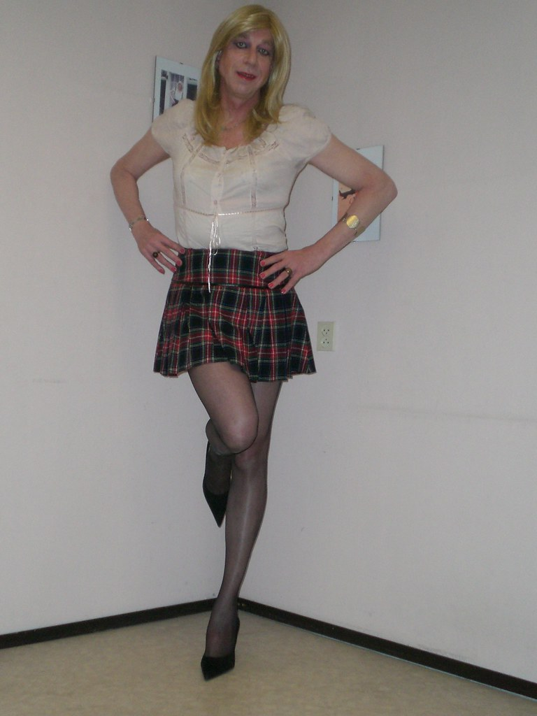 My New Mini-Skirt  I Really Love Mini-Skirts, Because It -4469