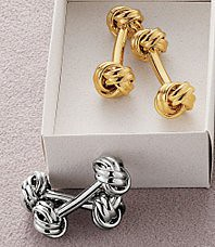 Knot Cuff Links (comes in gold or silver) | by NoKnowsWeddings