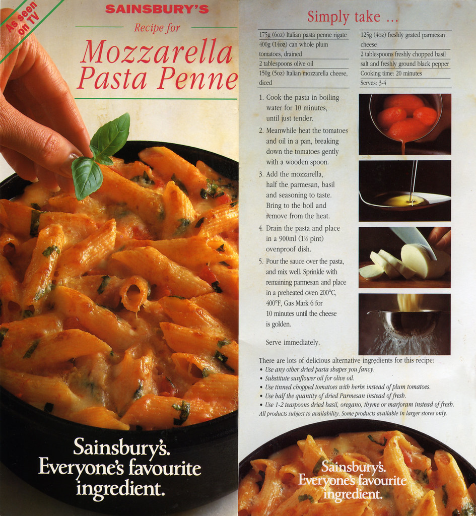 Sainsbury's Mozzarella Pasta Penne | I saw these Sainsbury's ...