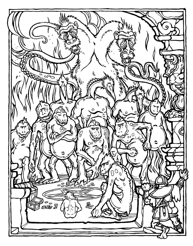 Dungeons And Dragons Coloring Book Dungeons And Dragons Colouring ...