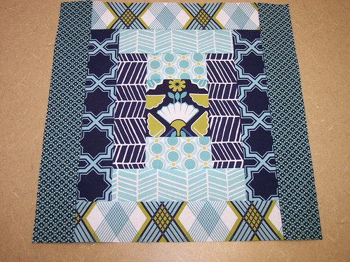 Twice as Nice Block 1 for CaKath - Courthouse Steps | by Around the Quilt Block