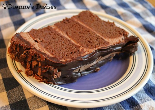 Triple Chocolate Ganache Cake: A Slice | by Dianne's Dishes