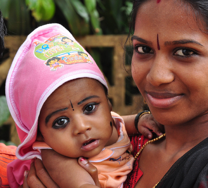 Kerala mother baby by brigitte violet surcouf