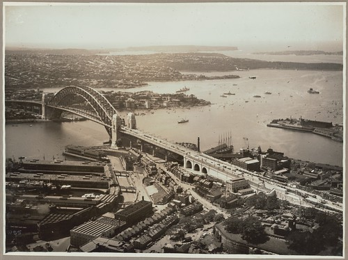 Sydney Harbour Bridge from Dawes Point, 19 March, 1932 | by National Library of Australia Commons
