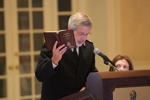 Territorial Commander, Commissioner Paul Seiler speaks at the NAB meeting in St. Louis on 9/15/11. | by salarmystl