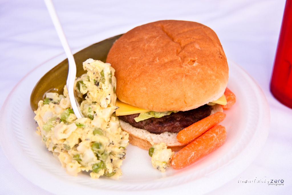 Backyard Burgers And Potato Salad Went To A Friend S House Flickr