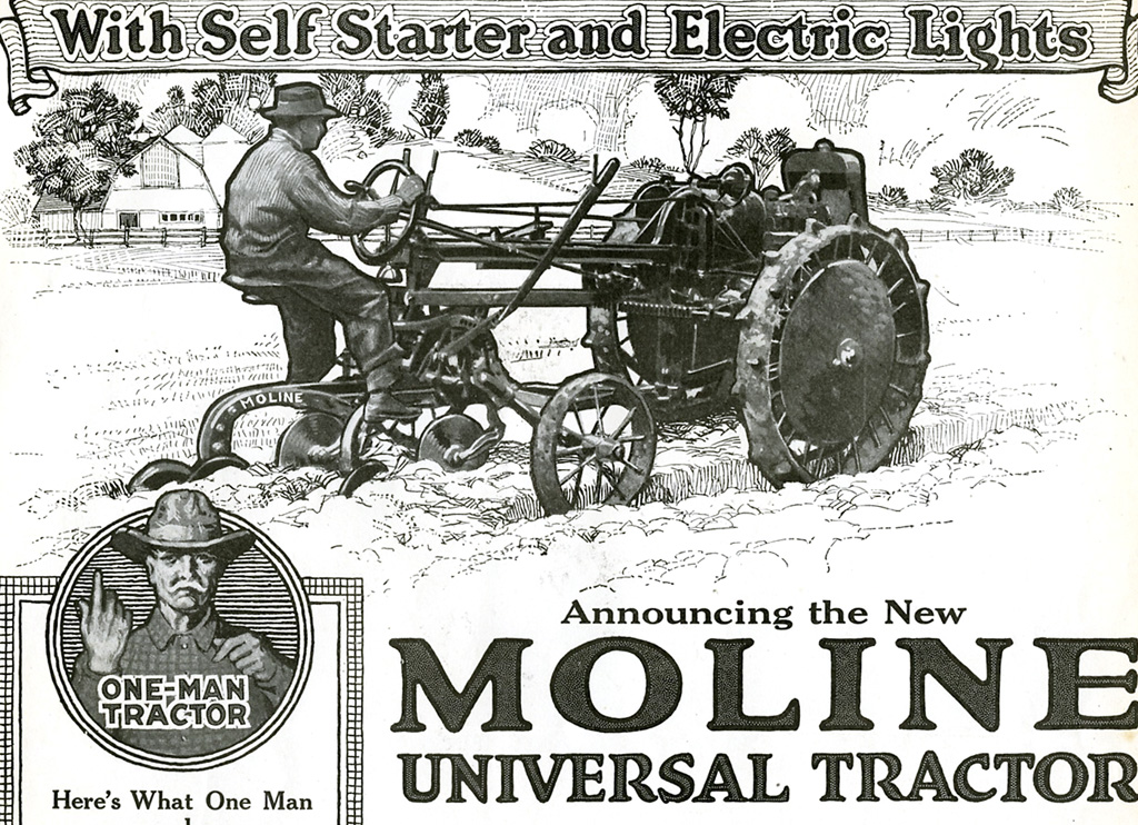 1918 moline universal tractor as advertised in the june for Espejo universal tractor